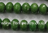 CCN1406 15.5 inches 10*14mm faceted rondelle candy jade beads