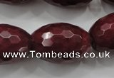 CCN1467 15.5 inches 18*25mm faceted rice candy jade beads wholesale