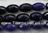 CCN1473 15.5 inches 10*14mm faceted rice candy jade beads wholesale