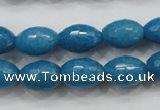 CCN1493 15.5 inches 10*14mm faceted rice candy jade beads wholesale