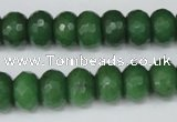 CCN156 15.5 inches 8*12mm faceted rondelle candy jade beads