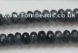 CCN1601 15.5 inches 6*10mm faceted rondelle candy jade beads