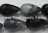 CCN1611 15.5 inches 15*25mm faceted teardrop candy jade beads