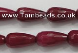 CCN1679 15.5 inches 10*20mm faceted teardrop candy jade beads wholesale