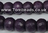 CCN169 15.5 inches 12*16mm faceted rondelle candy jade beads