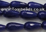 CCN1692 15.5 inches 10*20mm faceted teardrop candy jade beads wholesale