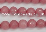 CCN1833 15 inches 10mm faceted round candy jade beads wholesale
