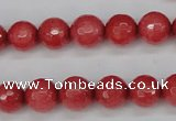 CCN1843 15 inches 10mm faceted round candy jade beads wholesale