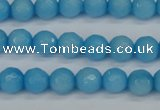 CCN1872 15 inches 8mm faceted round candy jade beads wholesale
