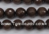CCN1933 15 inches 10mm faceted round candy jade beads wholesale