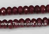 CCN1991 15 inches 6*10mm faceted rondelle candy jade beads wholesale