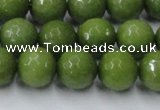 CCN2040 15 inches 12mm faceted round candy jade beads wholesale