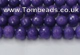 CCN2057 15 inches 4mm faceted round candy jade beads wholesale