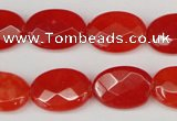 CCN2204 15.5 inches 13*18mm faceted oval candy jade beads
