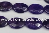 CCN2214 15.5 inches 13*18mm faceted oval candy jade beads