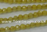 CCN2253 15.5 inches 4mm faceted round candy jade beads wholesale