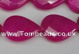 CCN2327 15.5 inches 18*25mm faceted flat teardrop candy jade beads