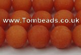 CCN2407 15.5 inches 4mm round matte candy jade beads wholesale