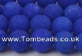 CCN2433 15.5 inches 6mm round matte candy jade beads wholesale