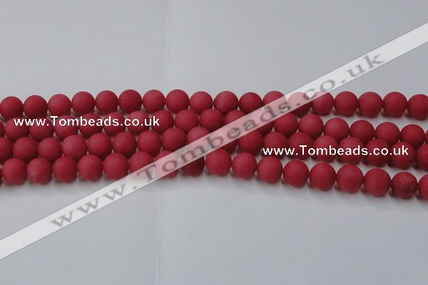 CCN2533 15.5 inches 12mm round matte candy jade beads wholesale
