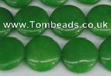 CCN2609 15.5 inches 18mm flat round candy jade beads wholesale