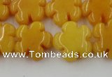 CCN2663 15.5 inches 16mm carved flower candy jade beads wholesale