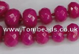 CCN2753 15.5 inches 5*8mm - 12*16mm faceted rondelle candy jade beads