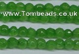 CCN2818 15.5 inches 3mm tiny faceted round candy jade beads
