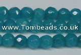 CCN2836 15.5 inches 5mm faceted round candy jade beads