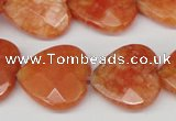 CCN357 15.5 inches 20*20mm faceted heart candy jade beads wholesale