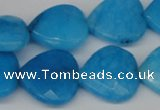 CCN361 15.5 inches 20*20mm faceted heart candy jade beads wholesale