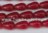 CCN3753 15.5 inches 8*12mm teardrop candy jade beads wholesale