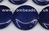 CCN3847 15.5 inches 30mm flat round candy jade beads wholesale