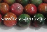 CCN4005 15 inches 16mm faceted round candy jade beads wholesale