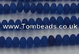 CCN4507 15.5 inches 3*5mm rondelle matte candy jade beads