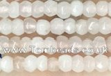 CCN5101 15 inches 3*4mm faceted rondelle candy jade beads