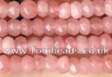 CCN5104 15 inches 3*4mm faceted rondelle candy jade beads