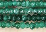 CCN5119 15 inches 3*4mm faceted rondelle candy jade beads