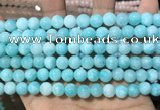 CCN5399 15 inches 8mm round candy jade beads Wholesale