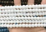 CCN5571 15 inches 8mm round matte candy jade beads Wholesale