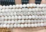 CCN5572 15 inches 8mm round matte candy jade beads Wholesale