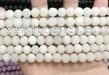 CCN5574 15 inches 8mm round matte candy jade beads Wholesale