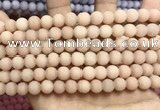 CCN5587 15 inches 8mm round matte candy jade beads Wholesale