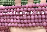 CCN5593 15 inches 8mm round matte candy jade beads Wholesale