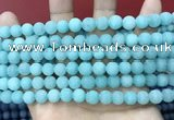 CCN5607 15 inches 8mm round matte candy jade beads Wholesale