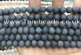 CCN5632 15 inches 8mm round matte candy jade beads Wholesale