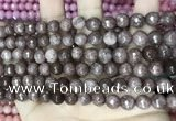 CCN5691 15 inches 8mm faceted round candy jade beads