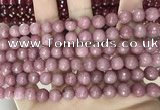 CCN5718 15 inches 8mm faceted round candy jade beads