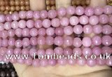 CCN5721 15 inches 8mm faceted round candy jade beads