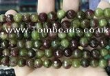 CCN5744 15 inches 8mm faceted round candy jade beads